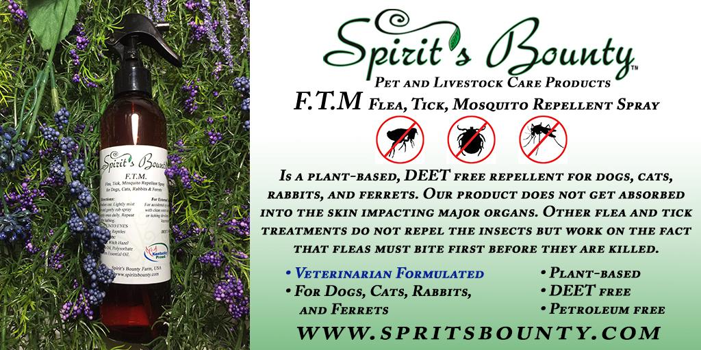 FTM- Flea, Tick, Mosquito Repellent Spray